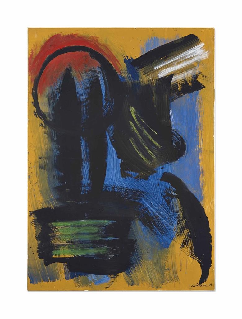 Gerard Schneider-Composition Abstraite-1983