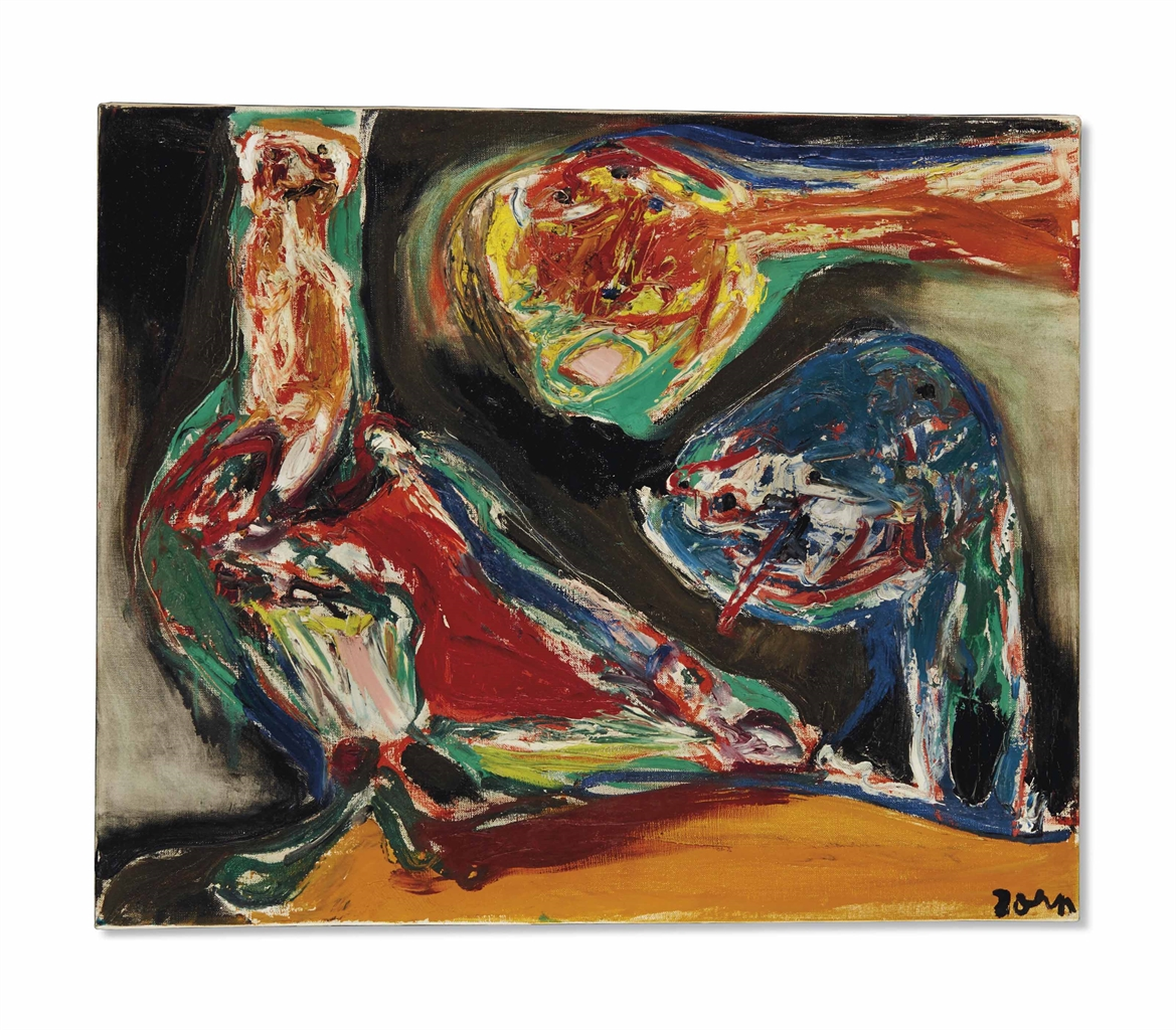Asger Jorn-Fuglens Dag (The Day Of The Bird)-1967
