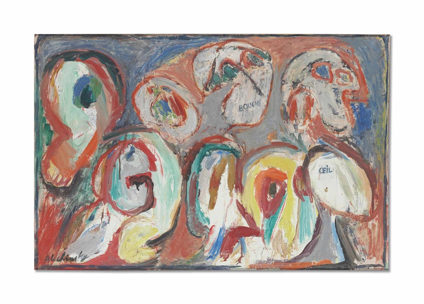 Pierre Alechinsky-Les Choses, Les Mots-1962