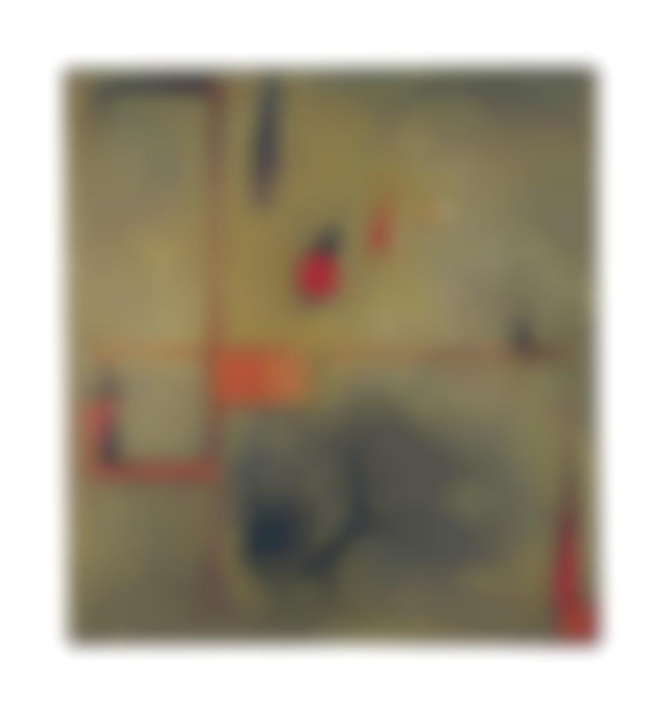 Antoni Tapies-Sense Reposta (Composition Aux Lignes Rouges)-1954