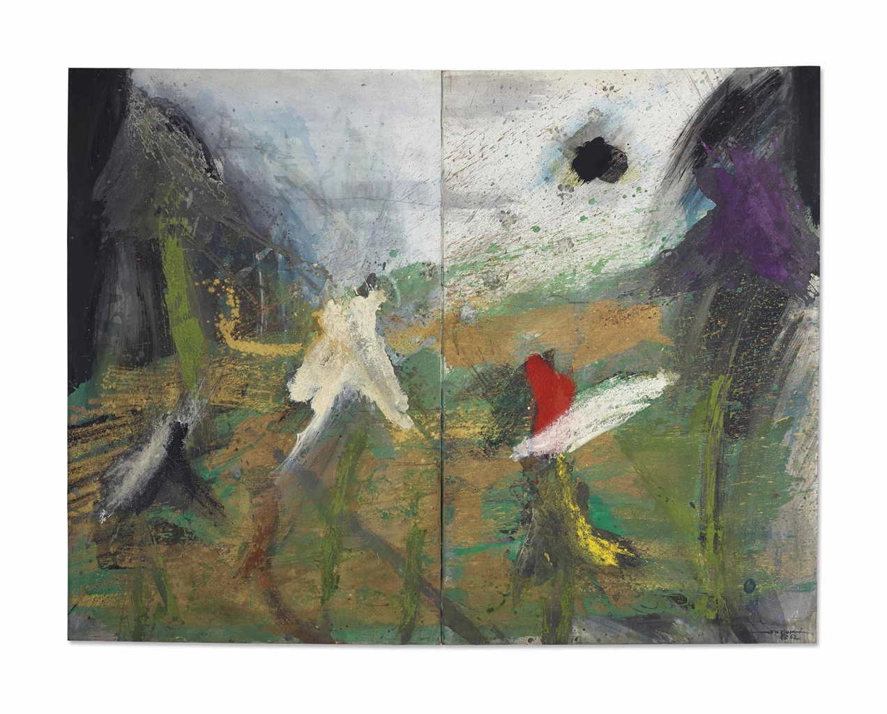 Takashi Suzuki-Les Iris Sous La Pluie-1962