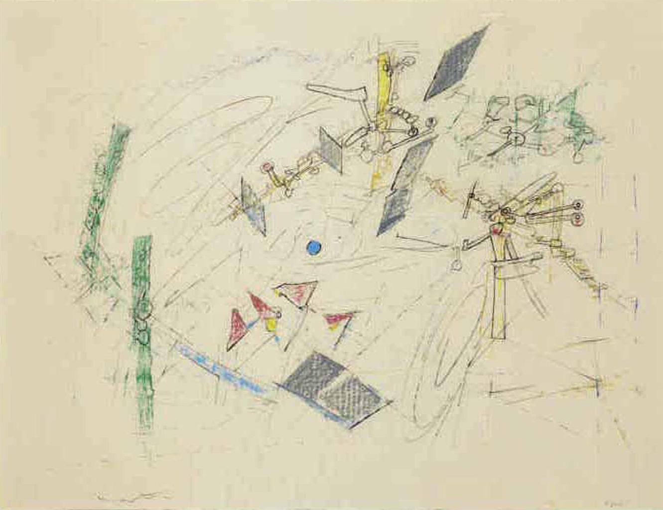 Roberto Matta-Composition, 4 July-1958