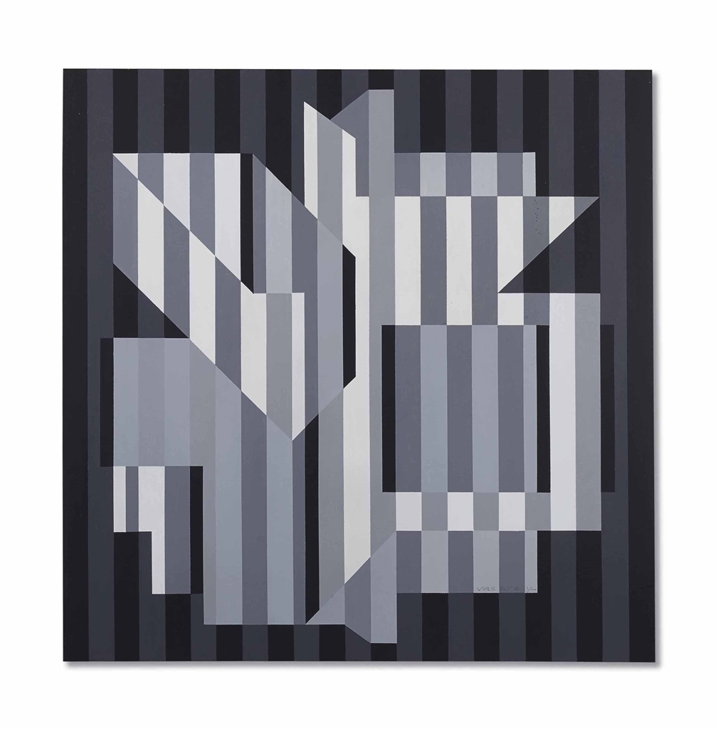 Victor Vasarely-Uijain-Gris-1973