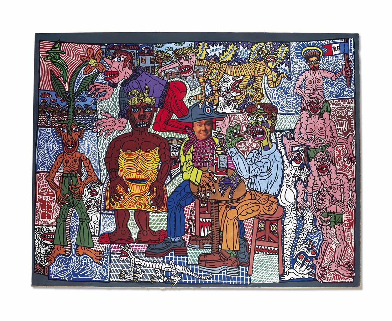 Robert Combas-Le Beaujolais Nouveau Est Arrive-1986