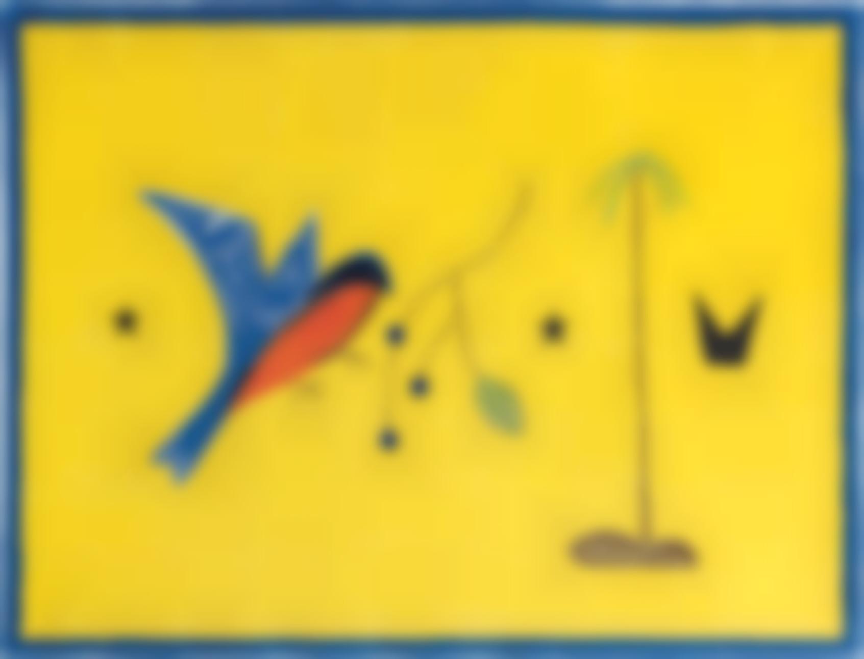 Craigie Aitchison-Blue Bird Yellow Landscape-2009