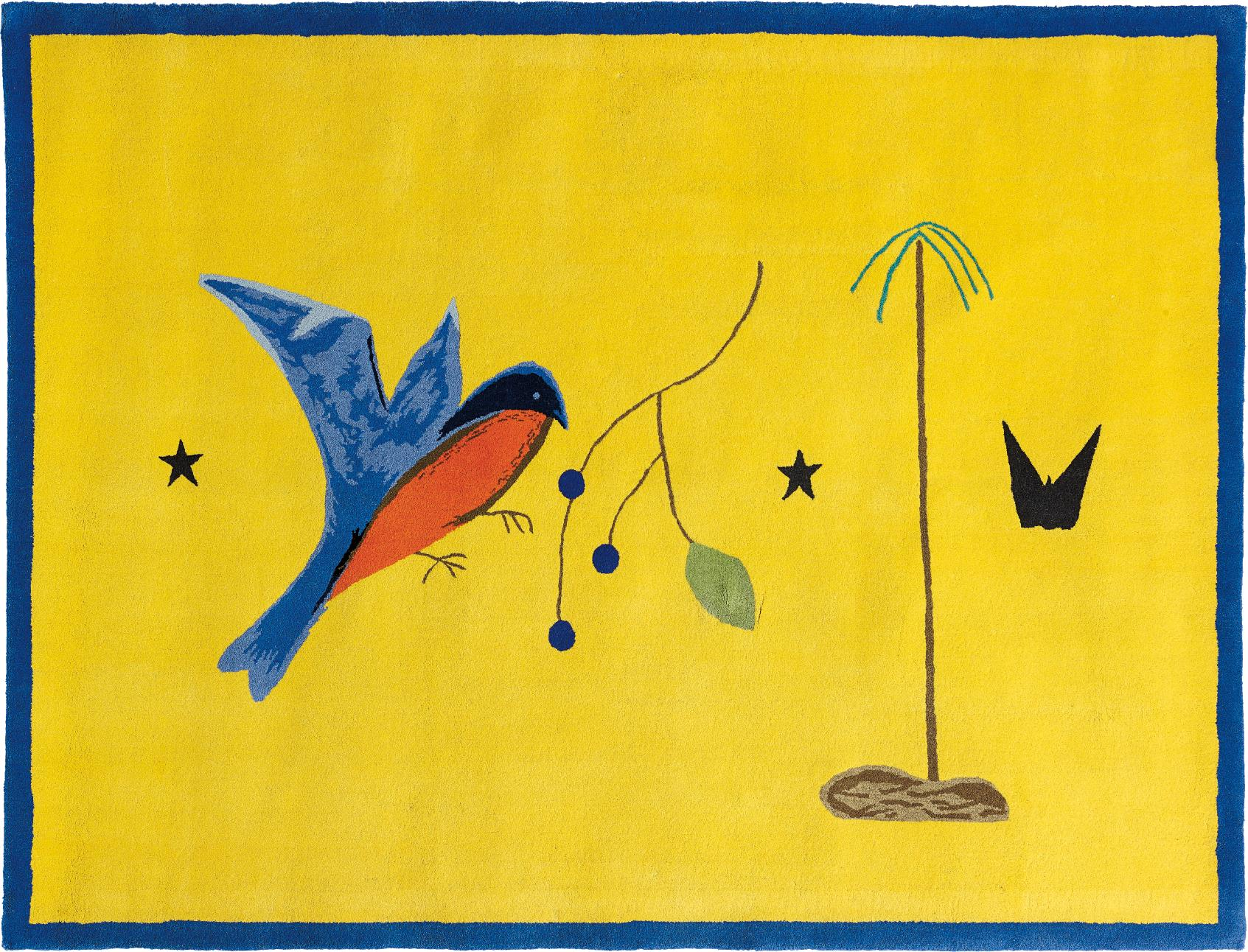 Craigie Aitchison-Blue Bird Yellow Landscape-2009