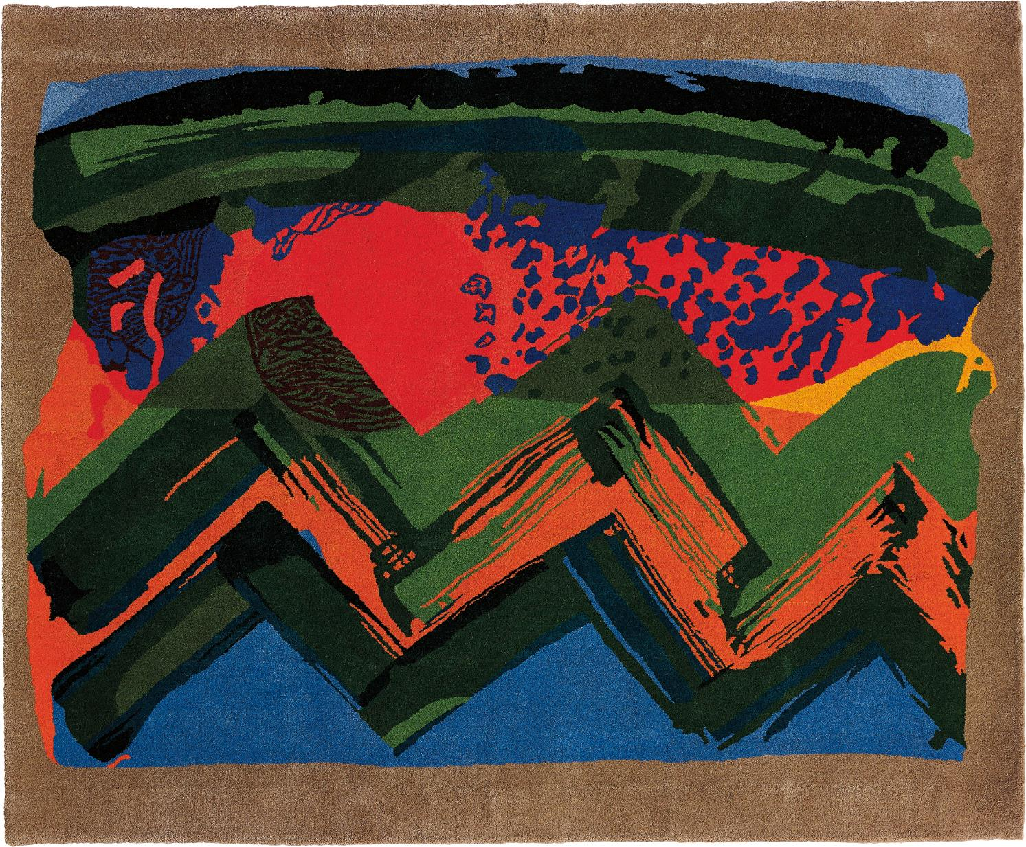 Howard Hodgkin-Sunset - India-1985