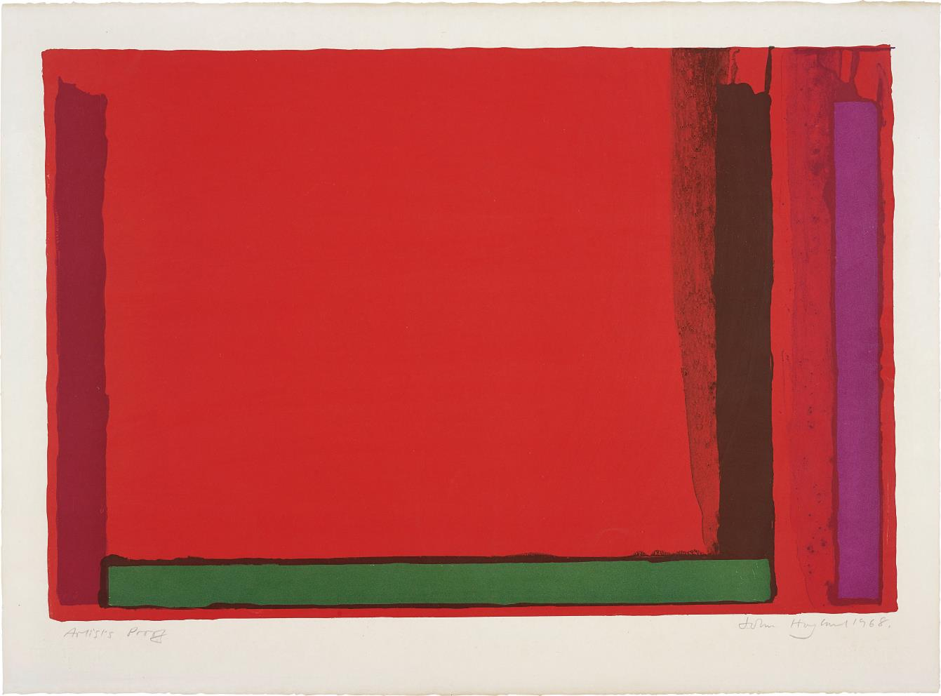 John Hoyland-Small Red-1968