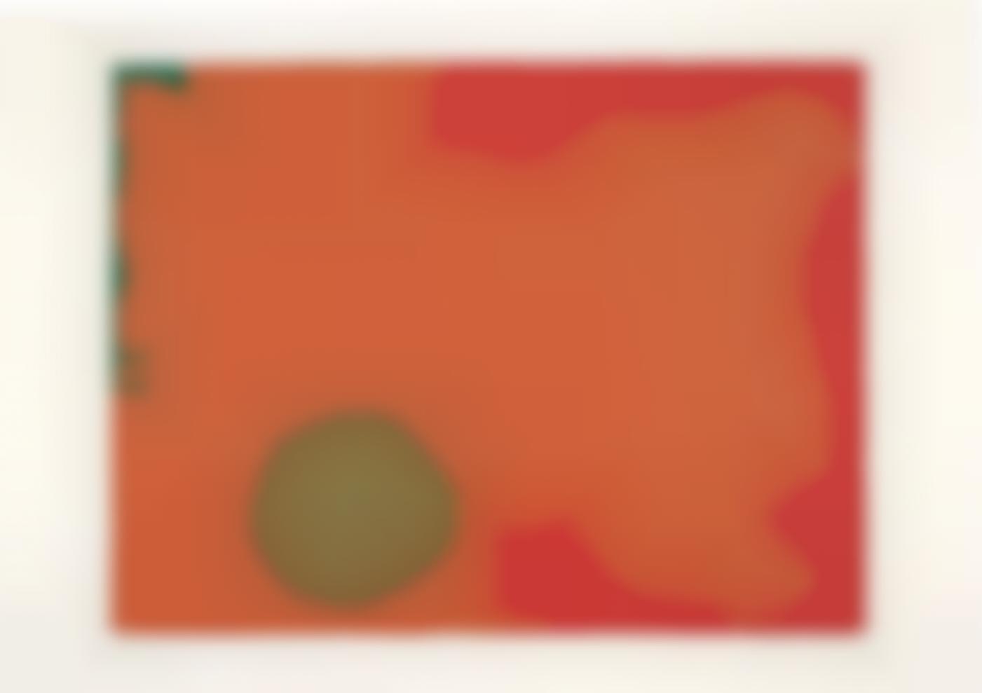 Patrick Heron-Umber Disk and Red Edge-1970