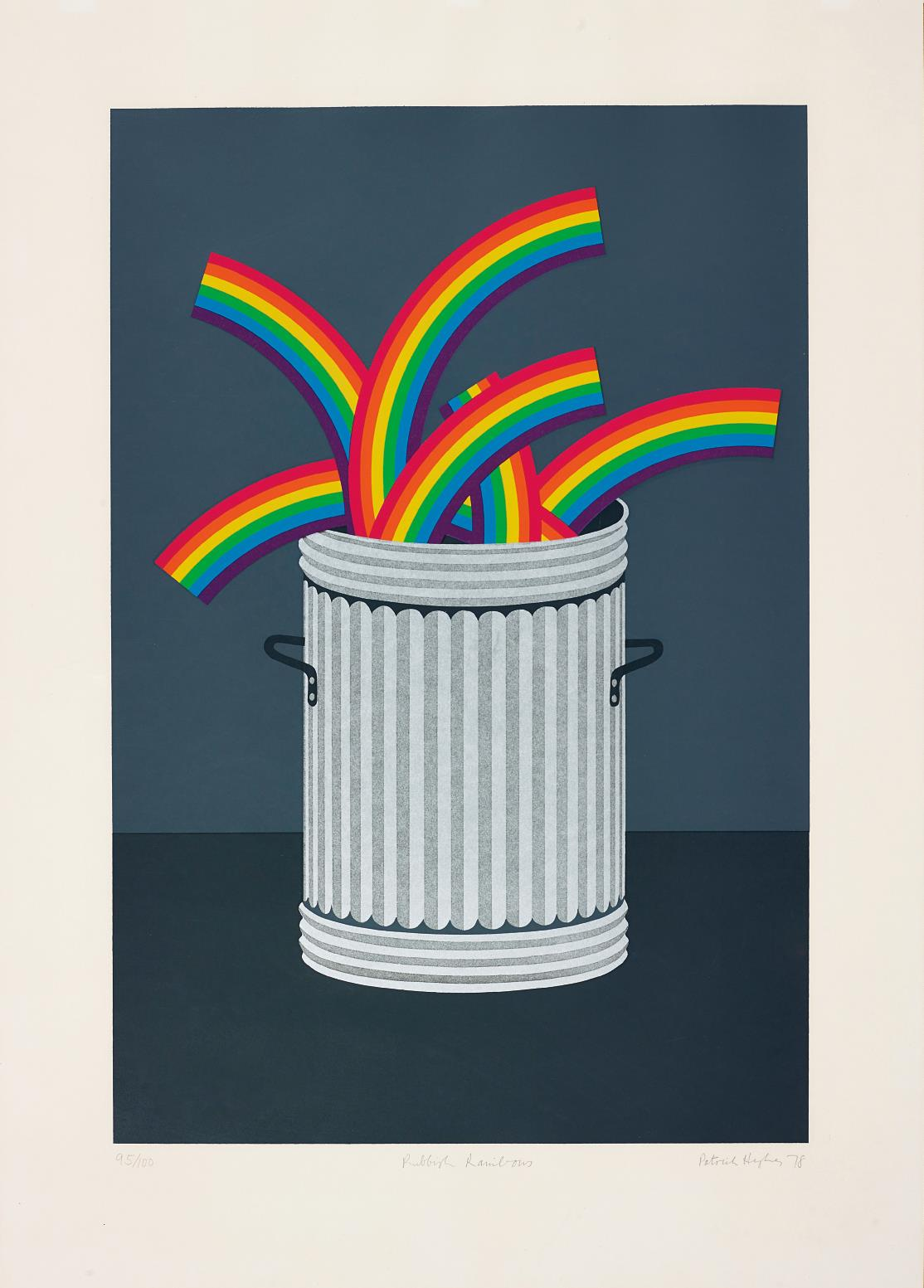 Patrick Hughes-Rubbish Rainbows-1978