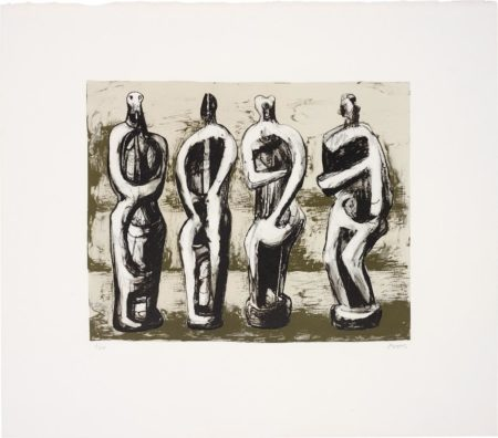 Henry Moore-Four Standing Figures-1978