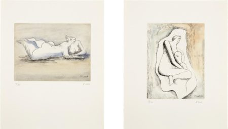 Henry Moore-Sketchbook 1928, The West Wind Relief-1980