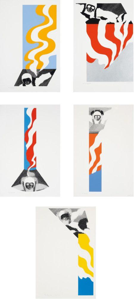 Gerald Laing-Parachutes: Five Works-1968