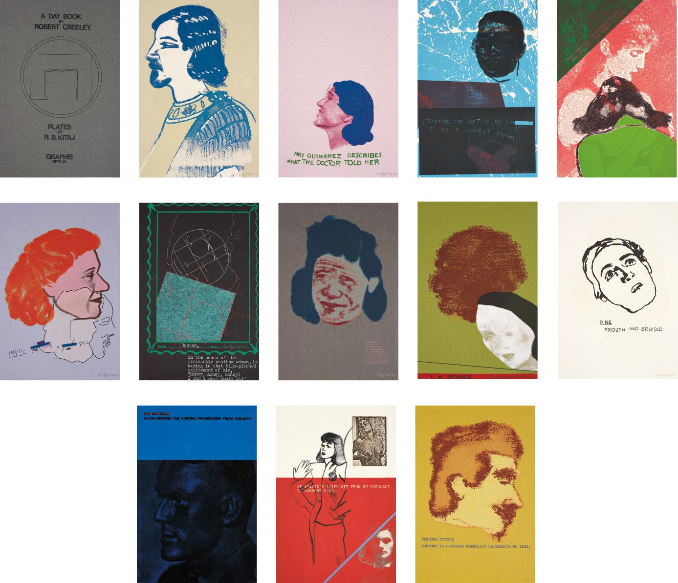 RB Kitaj-A Day Book by Robert Creeley; including two additional prints-1972