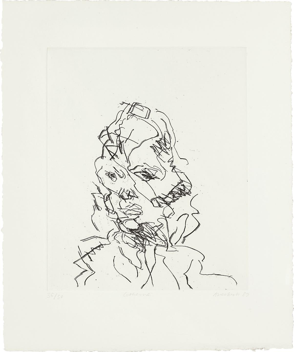 Frank Auerbach-Catherine, from Seven Portraits-1990