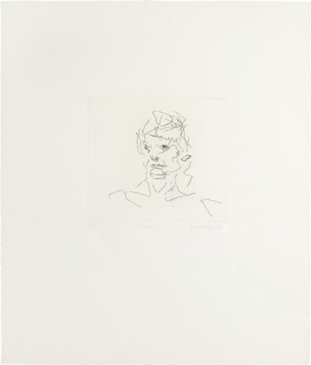 Frank Auerbach-Julia, from Six Etchings of Heads-1981