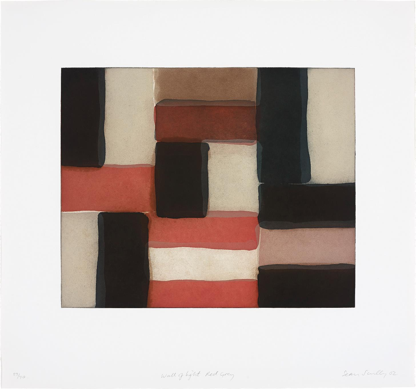 Sean Scully-Wall of Light Red Grey-2002