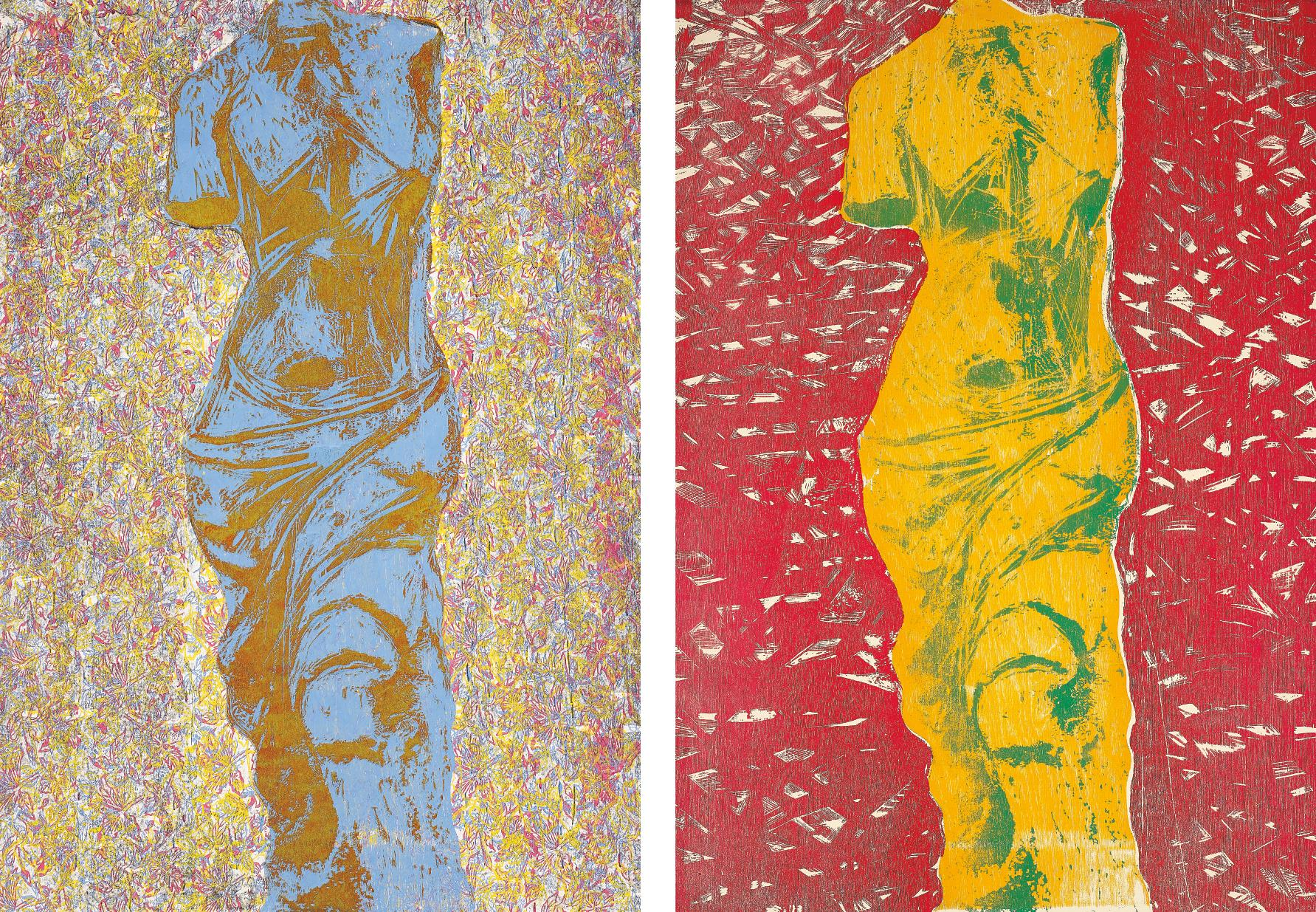 Jim Dine-Nine Views of Winter 6; and Nine Views of Winter 9-1985