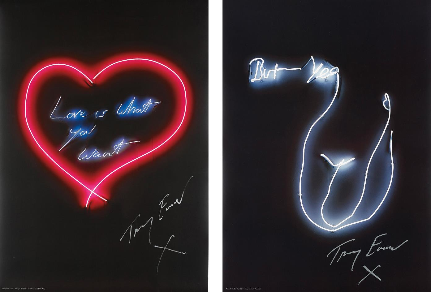 Tracey Emin-Love is What You Want; and But Yeah-2015