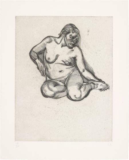 Lucian Freud-Girl Holding Her Foot-1985