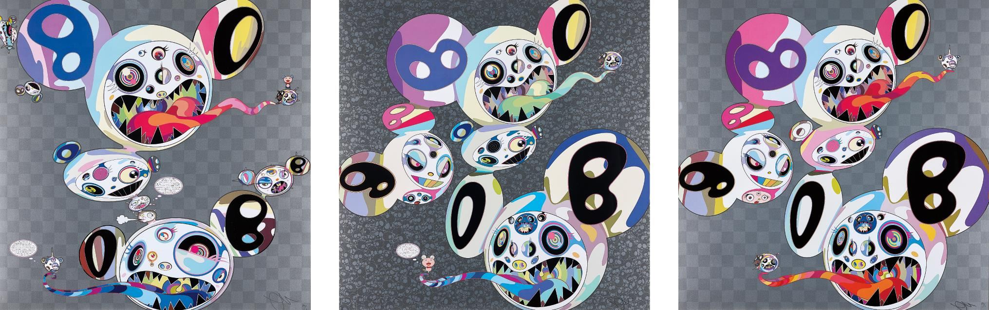 Takashi Murakami-Parallel Universe; Spiral; and The World and the World Beyond-2014