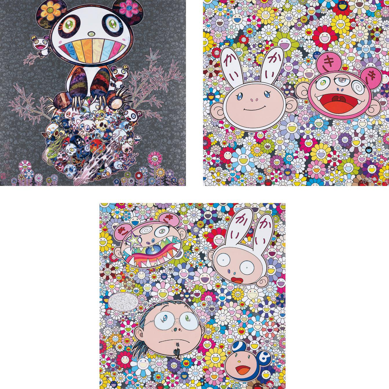 Takashi Murakami-Panda & Panda Cubs; Kaikai & Kiki: Dreaming of Shangri-la; and The Creative Mind-2015