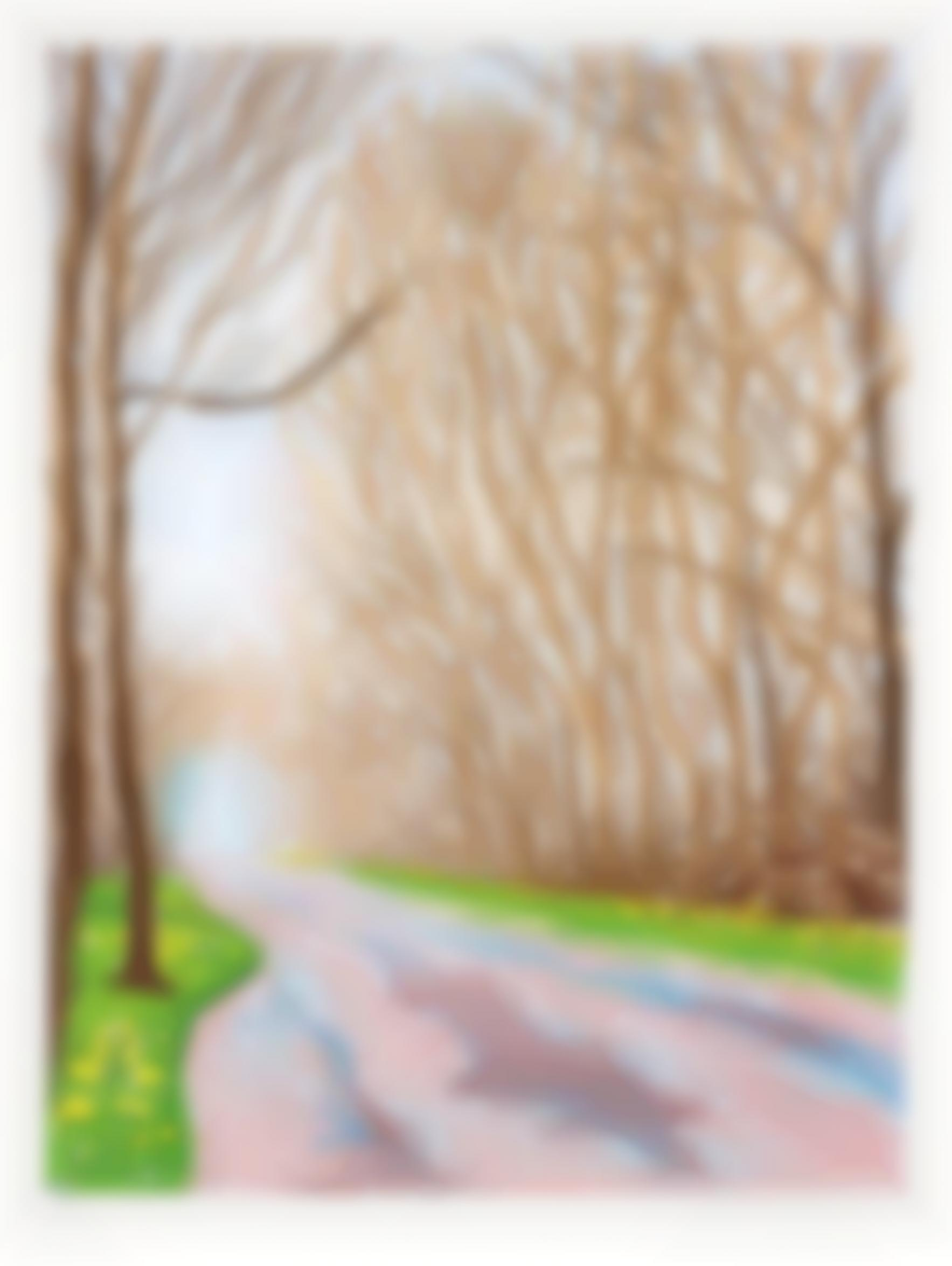 David Hockney-1 April, from The Arrival of Spring in Woldgate, East Yorkshire in 2011 (twenty eleven)-2011