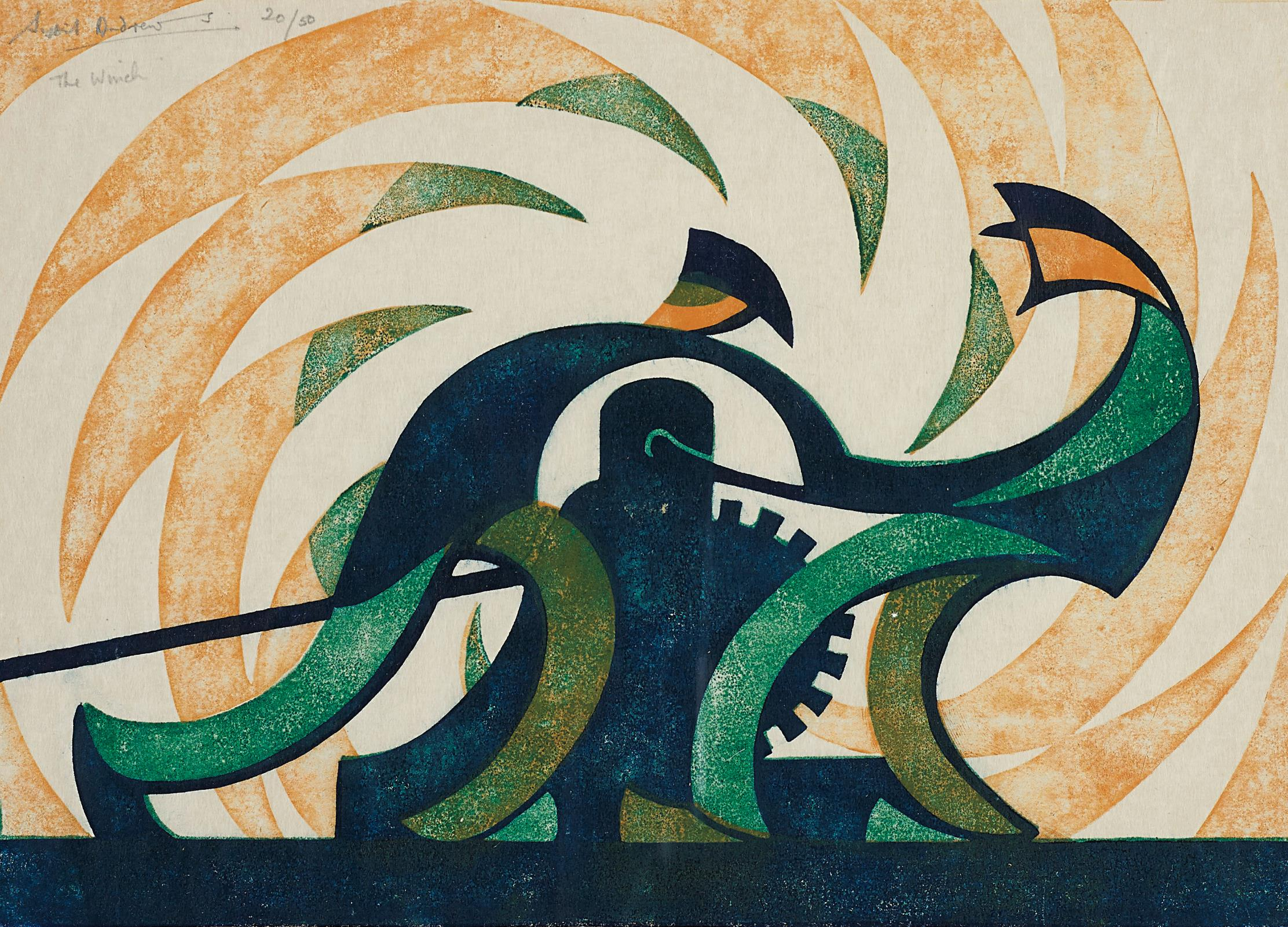 Sybil Andrews-The Winch-1930