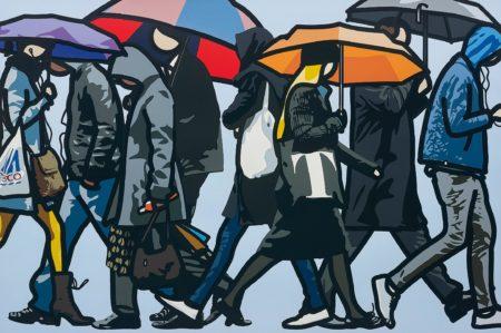 Julian Opie-Walking in the Rain, London-2015