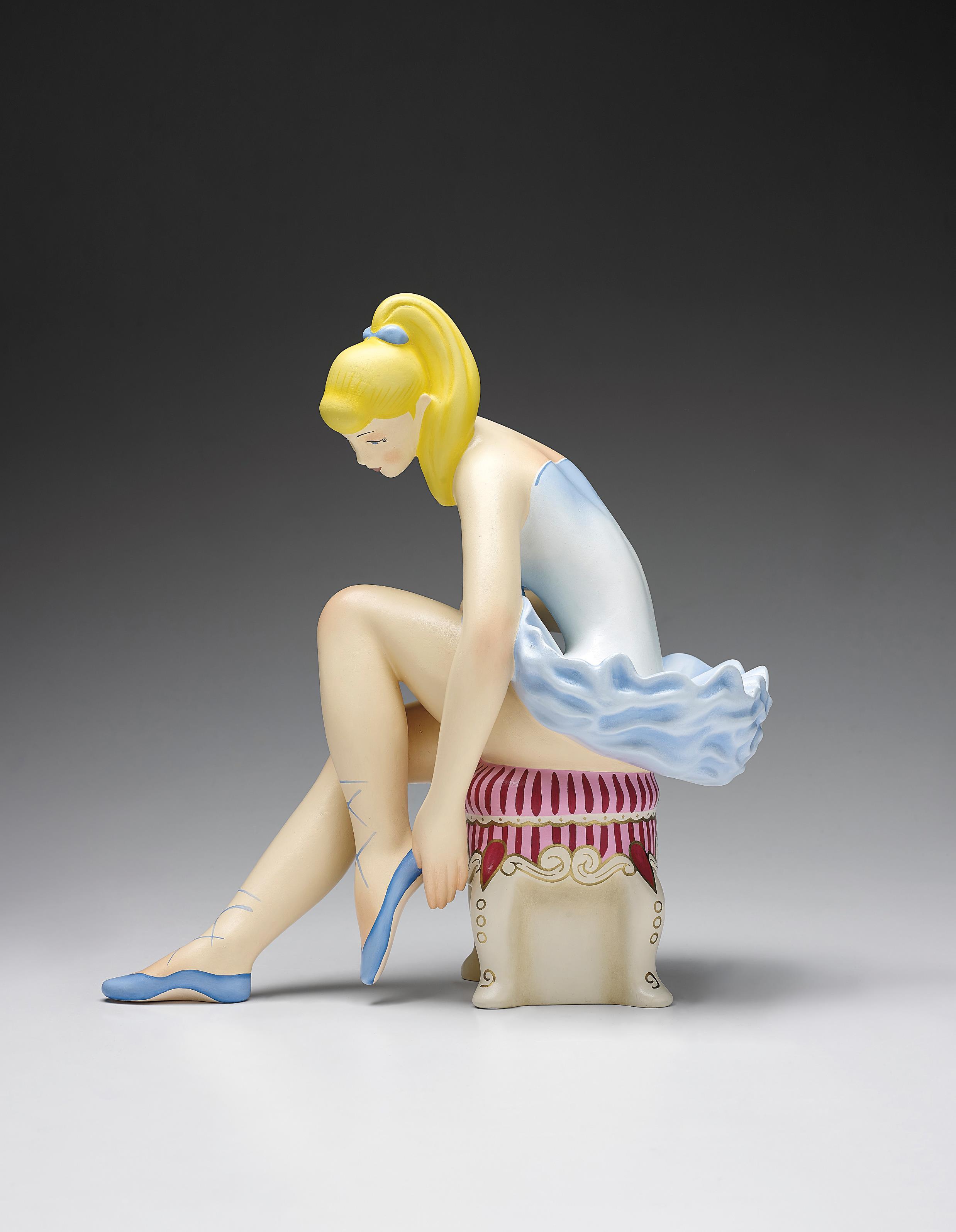 Jeff Koons-Seated Ballerina (Wood)-2015