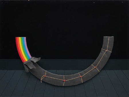 Patrick Hughes-Dark Rainbow Present-1978
