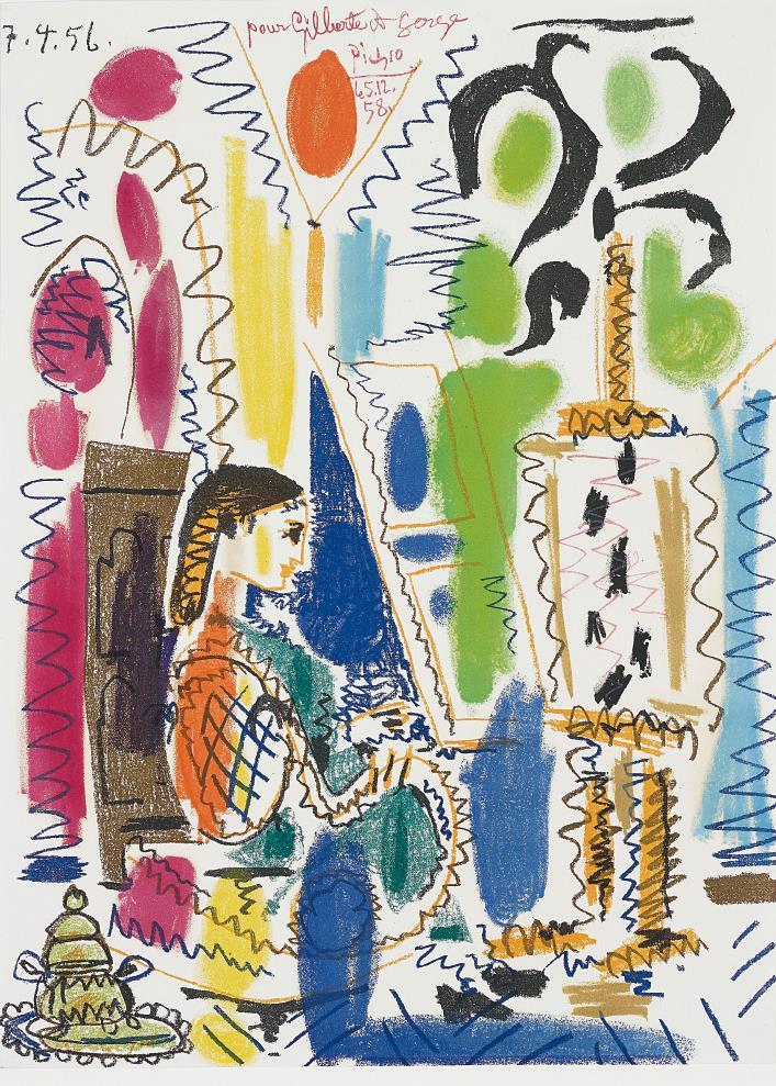 Pablo Picasso-L'Atelier de Cannes (Cannes Studio) (cover for Ces peintres nos amis vol. II)-1958