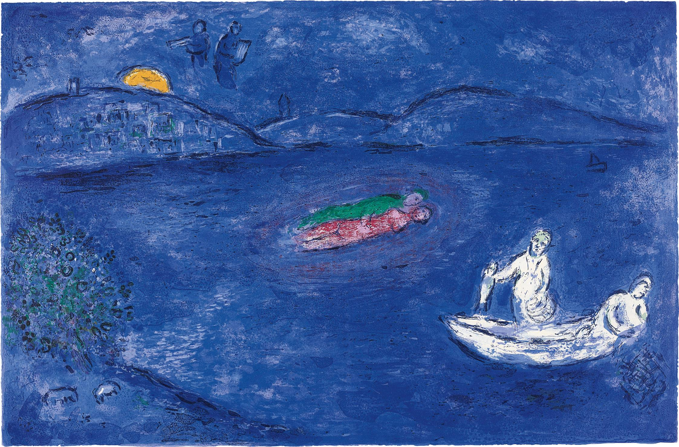 Marc Chagall-L'Echo, pl. 33 from Daphnis and Chloe-1961