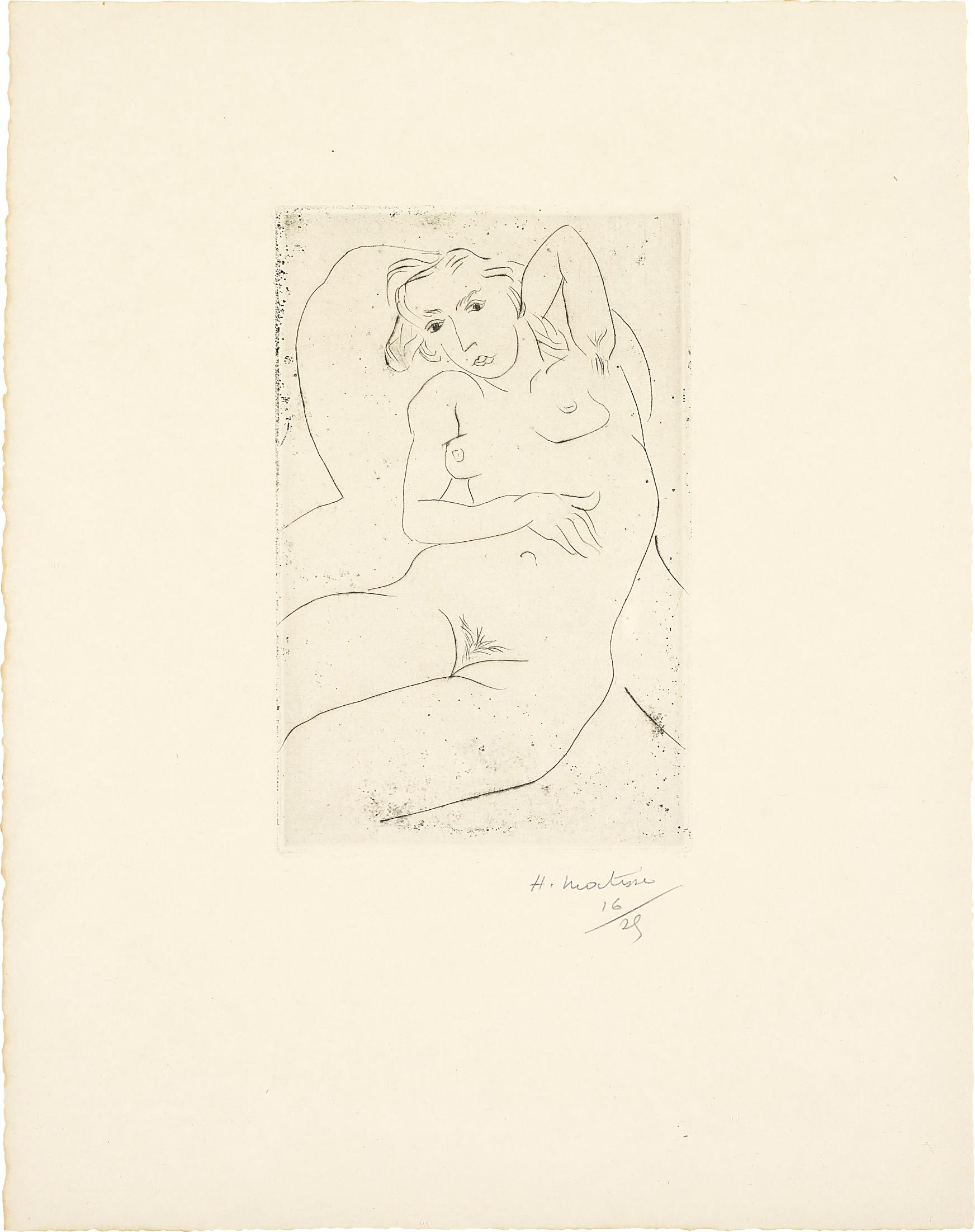 Henri Matisse-Nu assis- les yeux noirs (Seated Nude - with Black Eyes)-1926