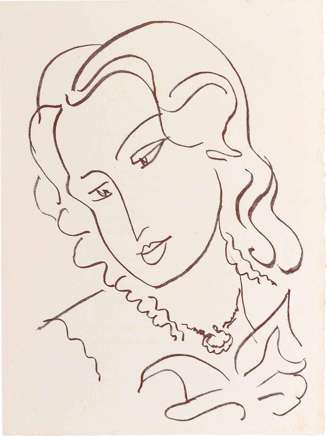 Henri Matisse-Florilege des amours de Ronsard (Anthology of Love, by Ronsard)-1949