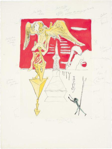 Salvador Dali-La Fusee (The Rocket), for Hommage a Leonardo da Vinci (American Inventions)-1975