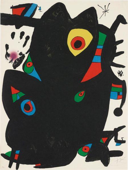 Joan Miro-Montroig II-1973