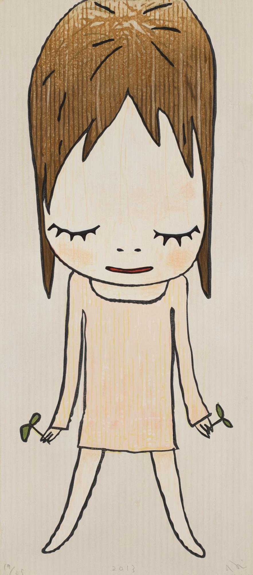 Yoshitomo Nara-Sprouts In Hands-2013