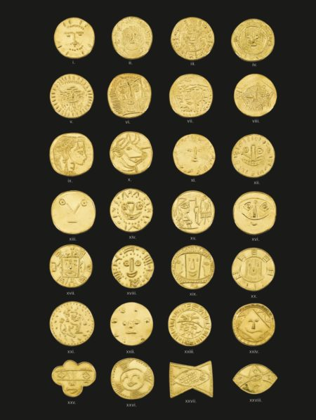 Pablo Picasso-Twenty-Eight Gold Medallions (A Set Of 24 + A Set Of 4)-1955
