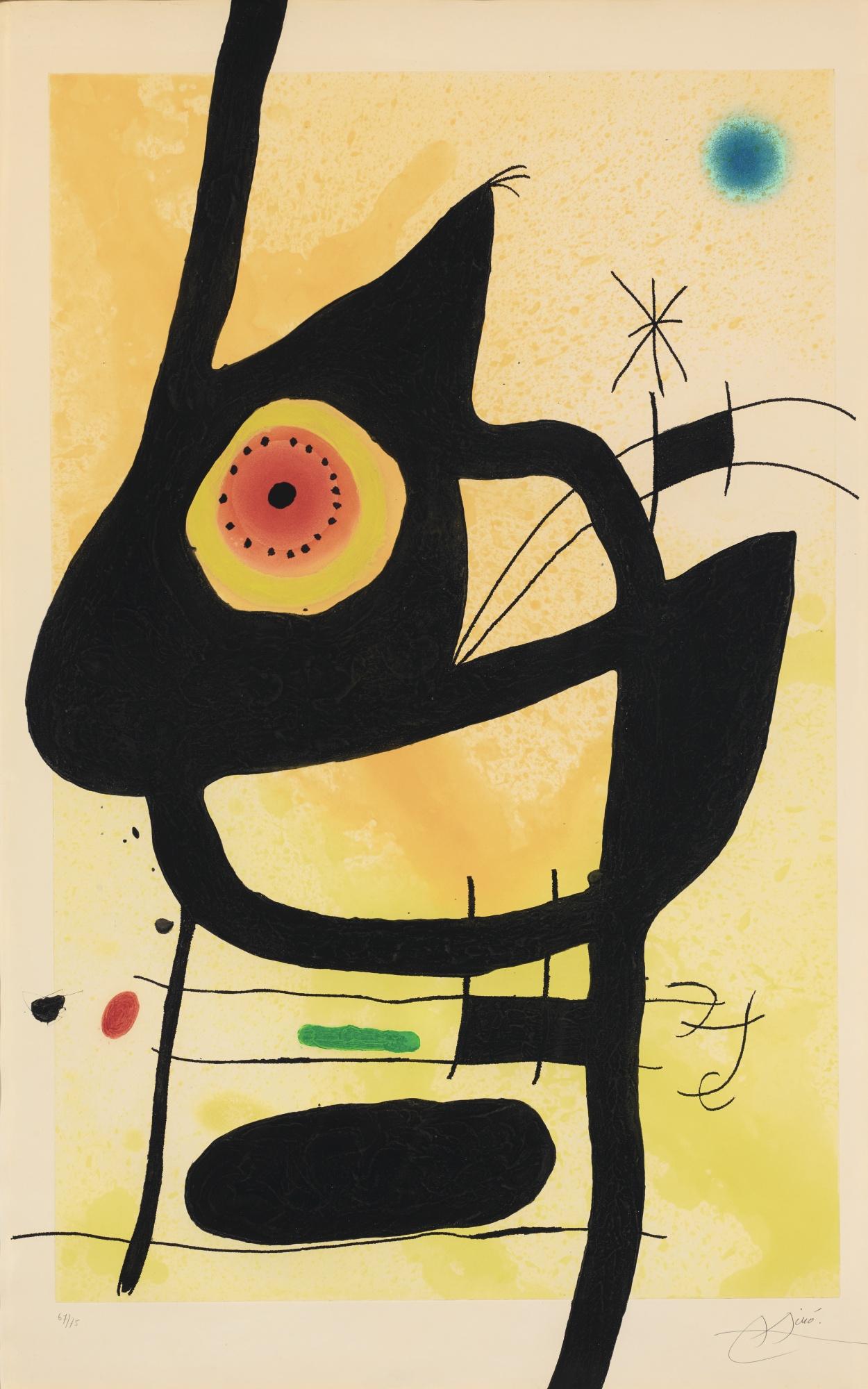Joan Miro-La Femme Des Sables-1969