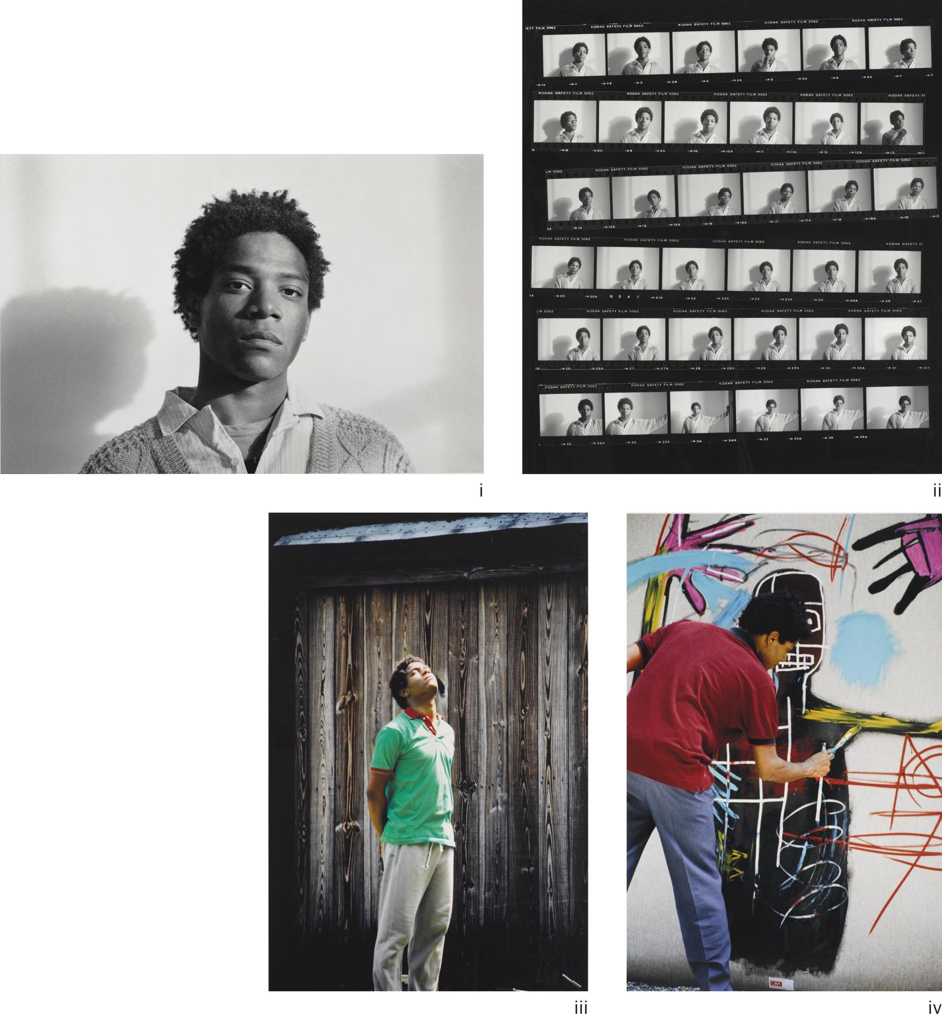 Jean-Michel Basquiat-Lee Jaffe-Untitled (4 Works)-1983