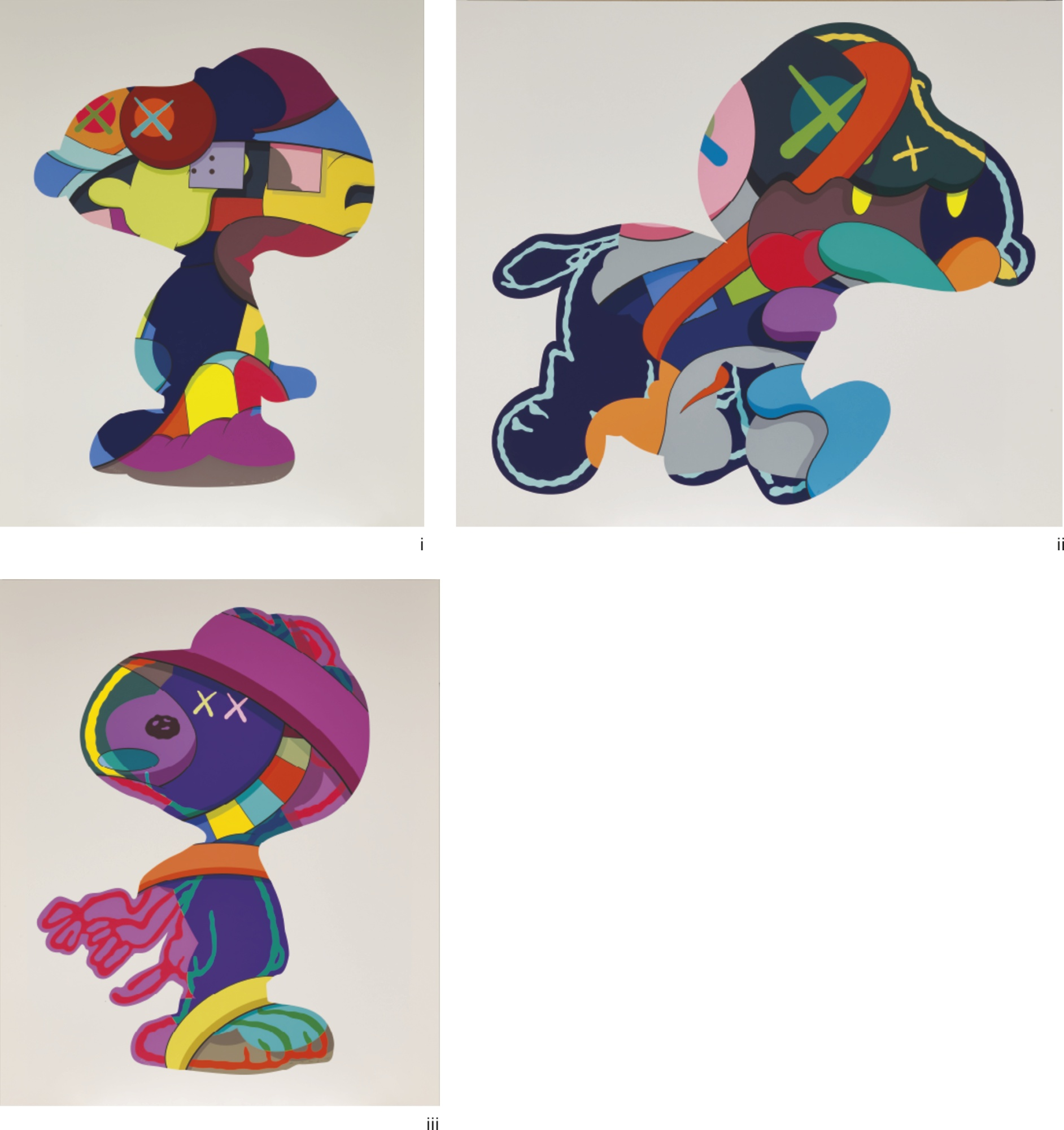 KAWS-(i) No One's Home; (ii) Stay Steady; (iii) The Things That Comfort (Three Works)-2015