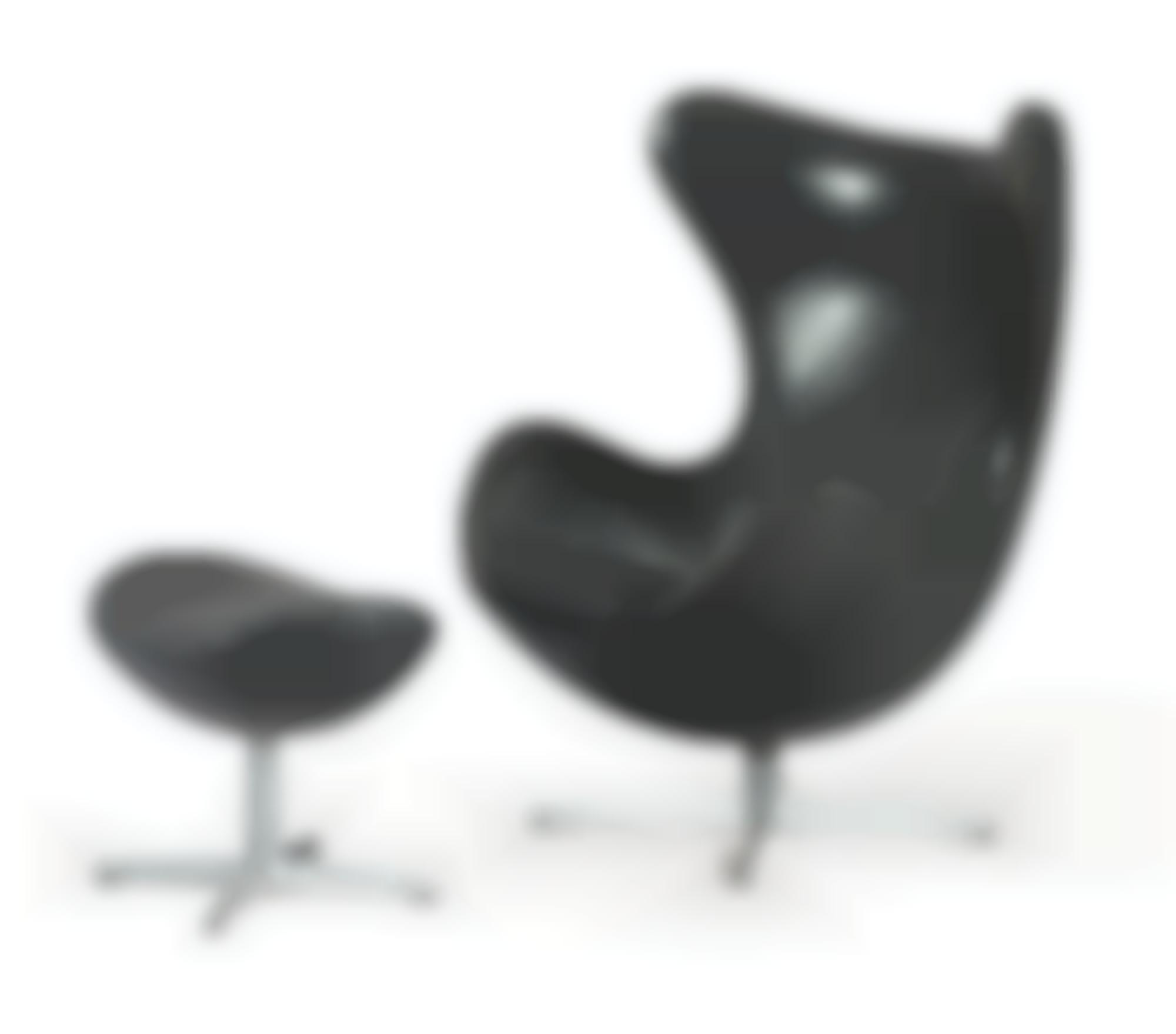 Arne Jacobsen - Fauteuil Egg Et Ottoman-1958