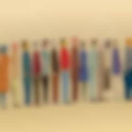 Chris Johanson-Untitled (Row of People)-2002