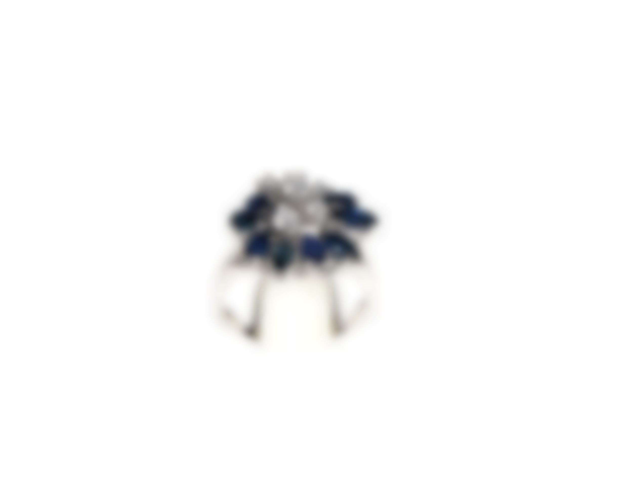 A Gold, Saphire And Diamond Ring-