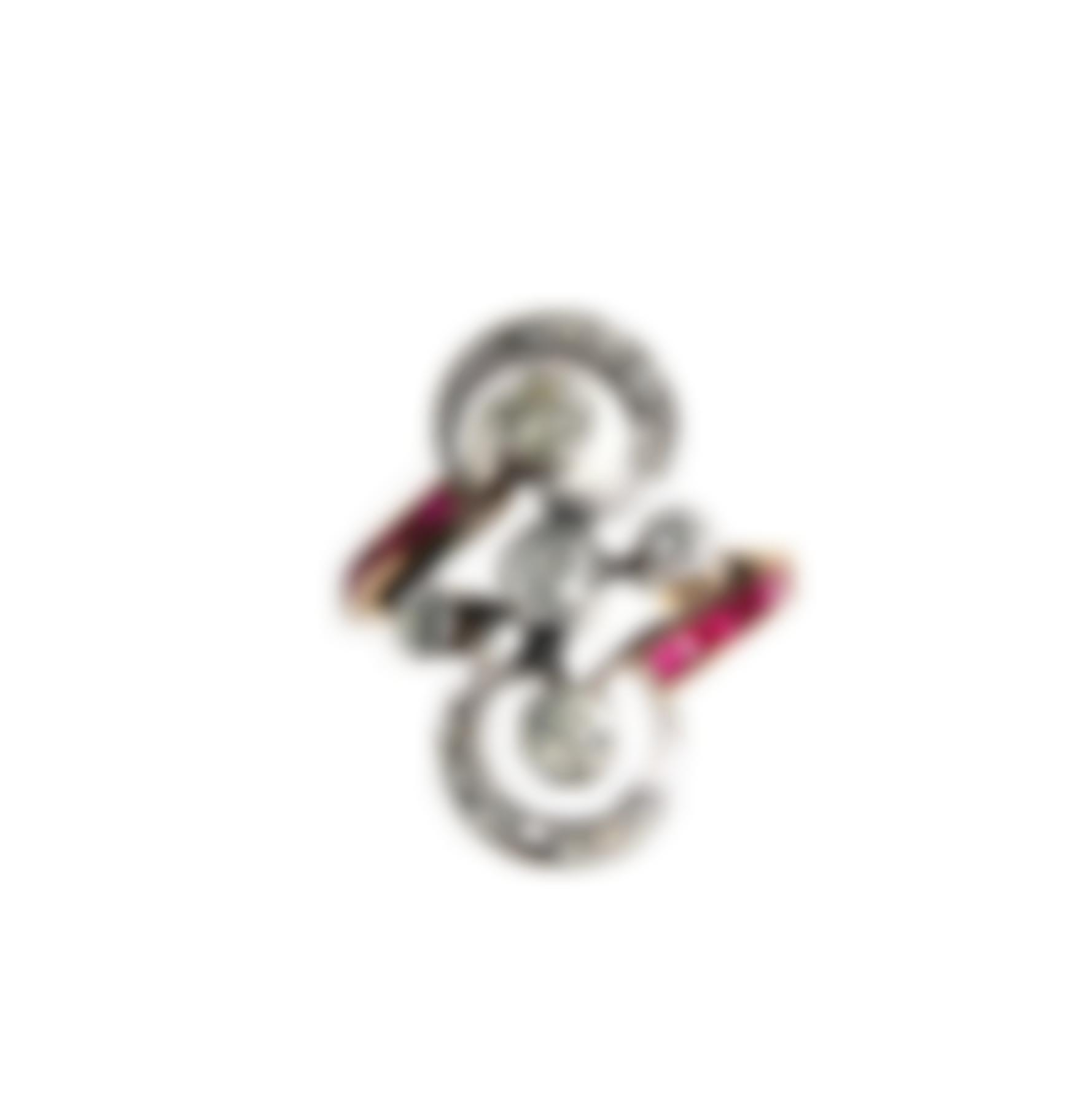 An Antique Gold, Ruby And Diamond Ring-