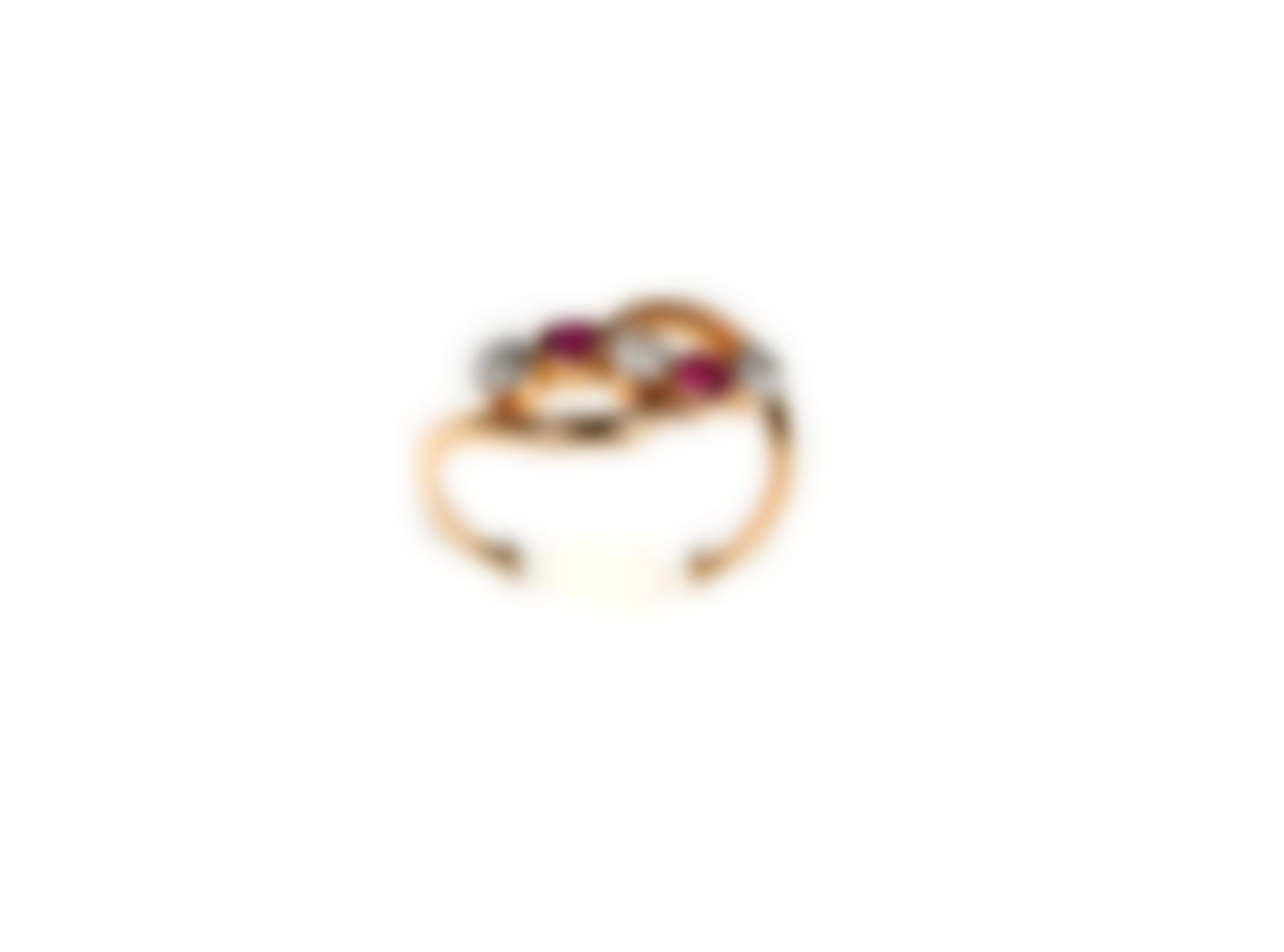 A Gold, Ruby And Diamond Ring-