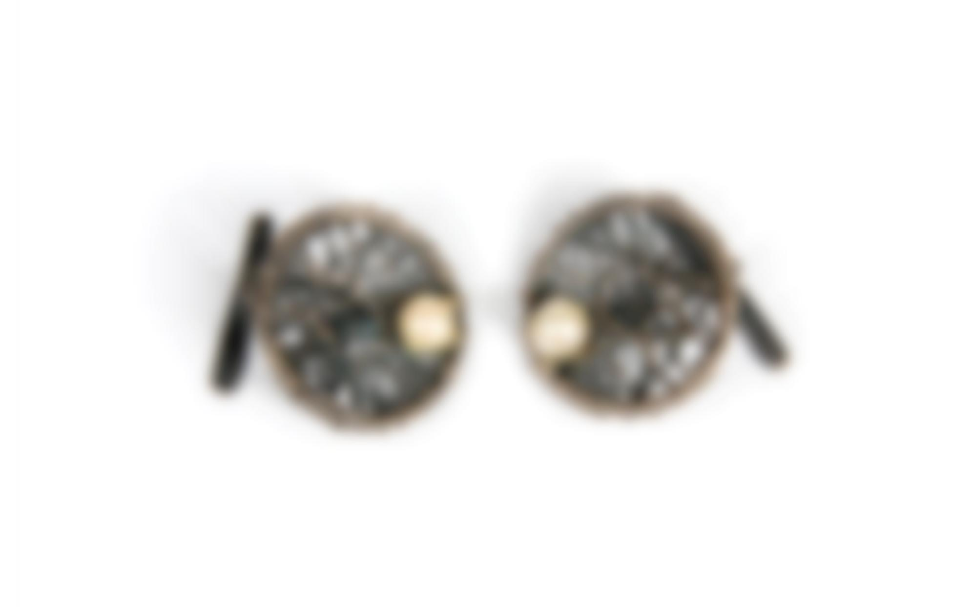A Pair Of Silver And Pearl Cufflinks-
