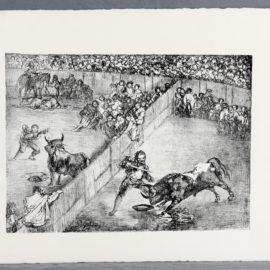 Francisco de Goya-Plaza partida. Los toros de Burdeos, 1824-1825-1825