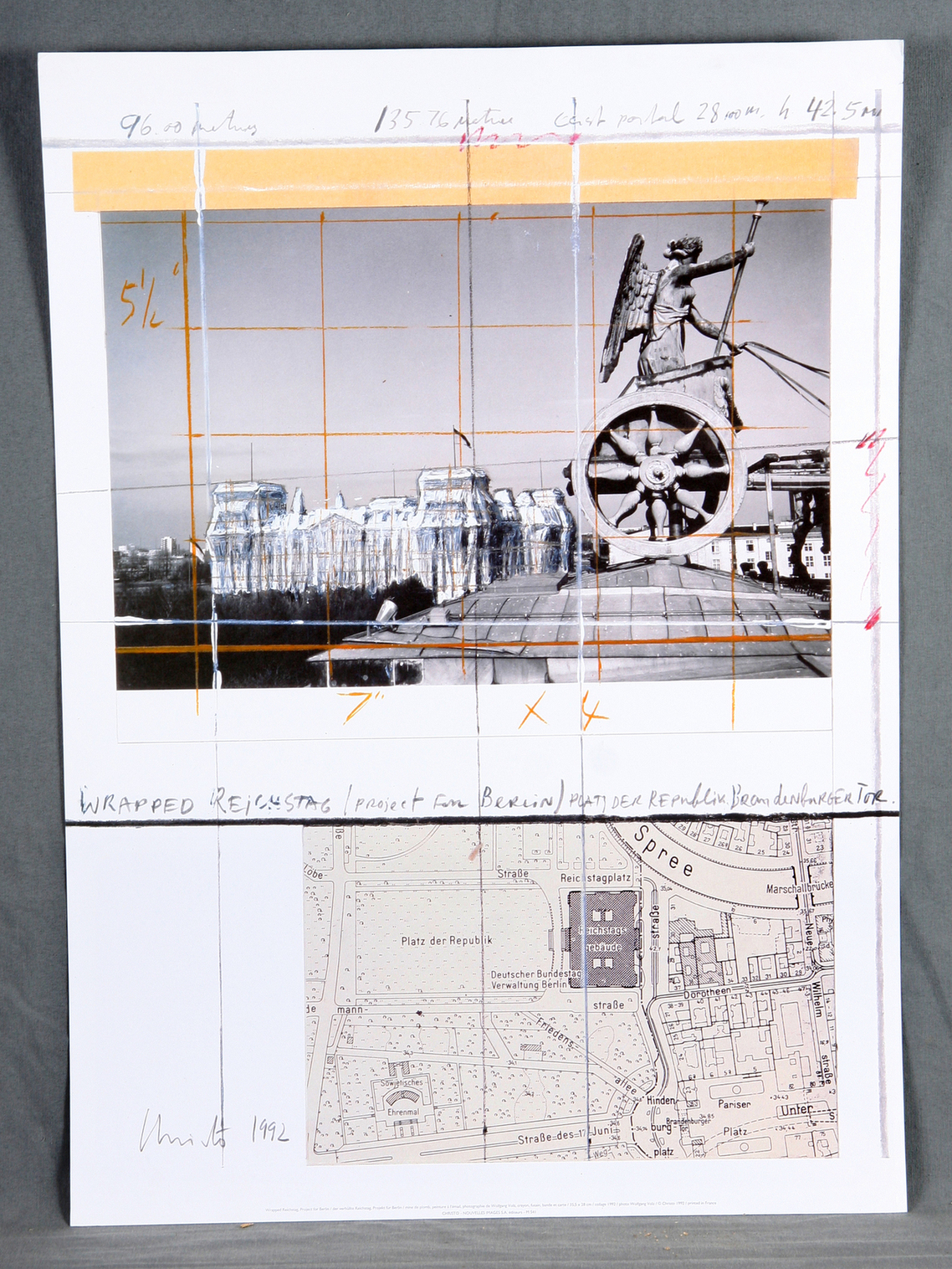 Christo and Jeanne-Claude-Wrapped Reichstag. Projet for Berlin-1992